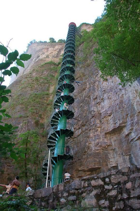 escada em espiral da china